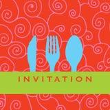 Invitación de la cena Fotografía de archivo