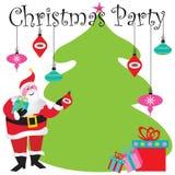 Invitación de la fiesta de Navidad Imagenes de archivo