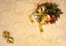 Invitación de la Navidad Fotos de archivo