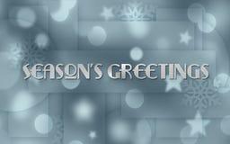 Invitación de la tarjeta de Navidad Imágenes de archivo libres de regalías