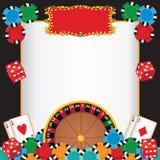 Invitación del acontecimiento del partido de la noche del casino Imagen de archivo