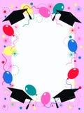 Invitación del partido de graduación Fotografía de archivo libre de regalías