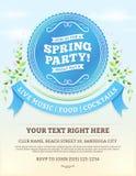 Invitación del partido de la primavera Fotografía de archivo libre de regalías
