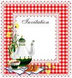 Invitación del partido de té Imágenes de archivo libres de regalías