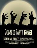 Invitación del partido del zombi Foto de archivo libre de regalías