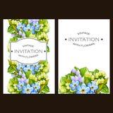 Invitación floral romántica Imagenes de archivo