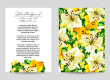 Invitación floral romántica Imagen de archivo