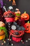 Invitaciones coloridas para Halloween Foto de archivo