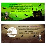 Invitaciones de Halloween Imagen de archivo libre de regalías