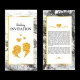 Invitaciones de mármol de la boda, gracias cardar, tarjeta de RSVP, tarjeta del lugar libre illustration