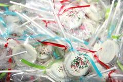 Invitaciones del caramelo de la Navidad Fotografía de archivo
