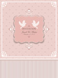 Invitaciones del diseño a la boda Foto de archivo
