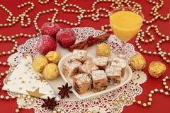 Invitaciones del dulce de la Navidad Fotos de archivo