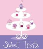 Invitaciones del dulce de las magdalenas Foto de archivo libre de regalías