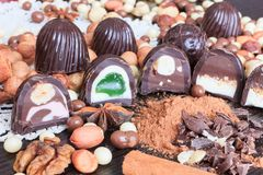Invitaciones del dulce en una tabla Fotografía de archivo libre de regalías