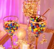 Invitaciones deliciosas del caramelo imagenes de archivo
