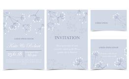 Invitaciones florales del vector Fotografía de archivo libre de regalías