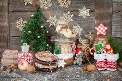 Invitaciones para la Navidad foto de archivo