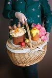 Invitaciones para una Pascua feliz Imágenes de archivo libres de regalías
