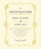 Invitaciones y avisos clásicos de la boda Foto de archivo libre de regalías