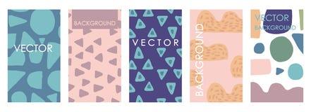 Invitaciones y diseño vivos de la plantilla de la tarjeta Sistema a pulso abstracto del vector libre illustration
