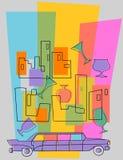 Invitation à la réception de cocktail Image libre de droits