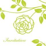 Invitation. Wedding invitation or greeting card stock illustration