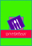 Invitation. Food restaurant or menu card Royalty Free Stock Photo