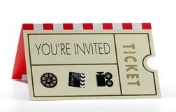 Invitation Photo stock