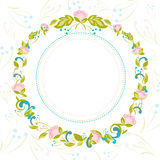 Invitation  with abstract floral background Stock Photos