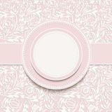 Invitation  with abstract floral background Royalty Free Stock Photography