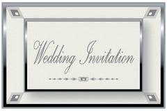 Invitation argentée de mariage de trame Photo libre de droits