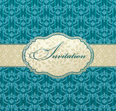 Invitation art vector frame package label vintage Royalty Free Stock Photo