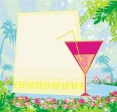 Invitation au cocktail d'anniversaire Photo stock