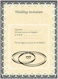 Invitation au Huppah Invitation beige à un mariage juif illustration de vecteur