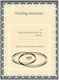 Invitation au Huppah Invitation beige à un mariage juif illustration stock