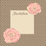 Invitation avec des fleurs illustration stock