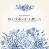 Invitation avec fleurs bleues Image stock