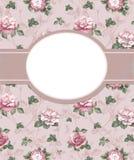 Invitation avec l'illustration de la fleur rose Image stock