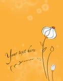 Invitation avec le fond floral Photo stock