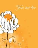 Invitation avec le fond floral abstrait Photo stock