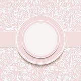 Invitation avec le fond floral abstrait Photographie stock libre de droits