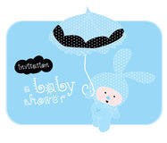 Invitation a baby shower - vector Royalty Free Stock Image