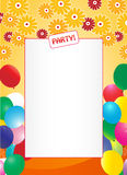 Invitation background. Colorful party invitation frame background Royalty Free Stock Photography