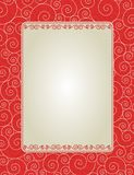 Invitation background. Elegant red swirl background / frame specially for valentines day / wedding related designs Royalty Free Stock Photos