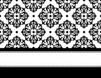 Invitation background. Elegant black and white seamless pattern with frame. specially for wedding / anniversary invitation designs Royalty Free Stock Image