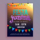 Invitation background for festa junina festival design Royalty Free Stock Photography