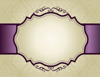 Invitation background with ornamental border Royalty Free Stock Image