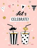 Invitation background on party time. Royalty Free Stock Photos