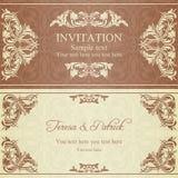 Invitation baroque, brune illustration libre de droits